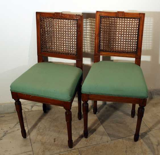 A pair of Louis XVI dining chairs - photo 1