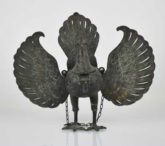 Bronze incense burner in the Form of a mythological bird - photo 2