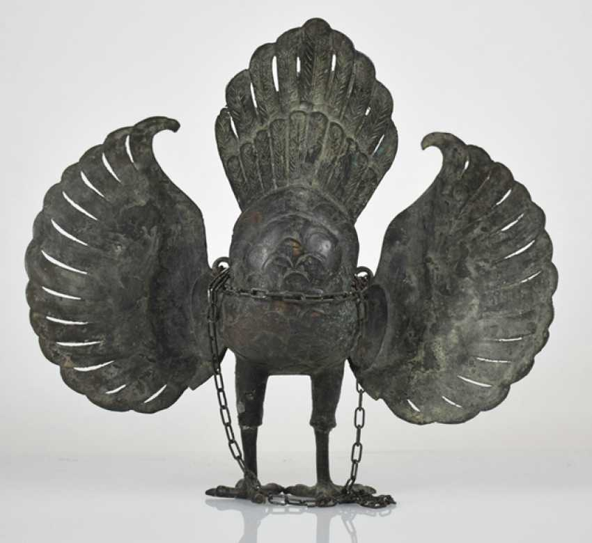 Bronze incense burner in the Form of a mythological bird - photo 3