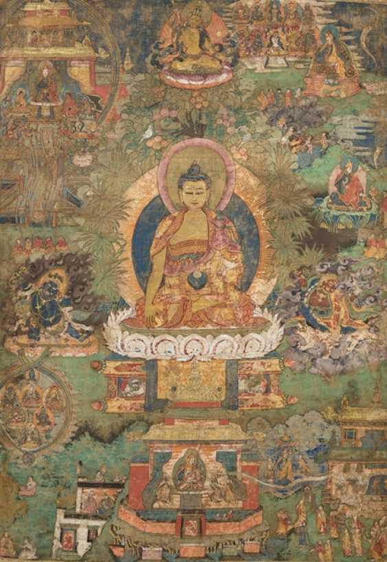 Thangka with presentation of guru Padmasambhava - photo 1