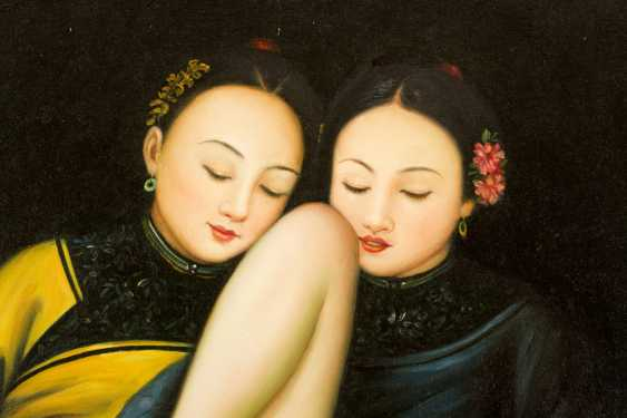 Chinese school, Erotica, two girls in traditional dresses - photo 3