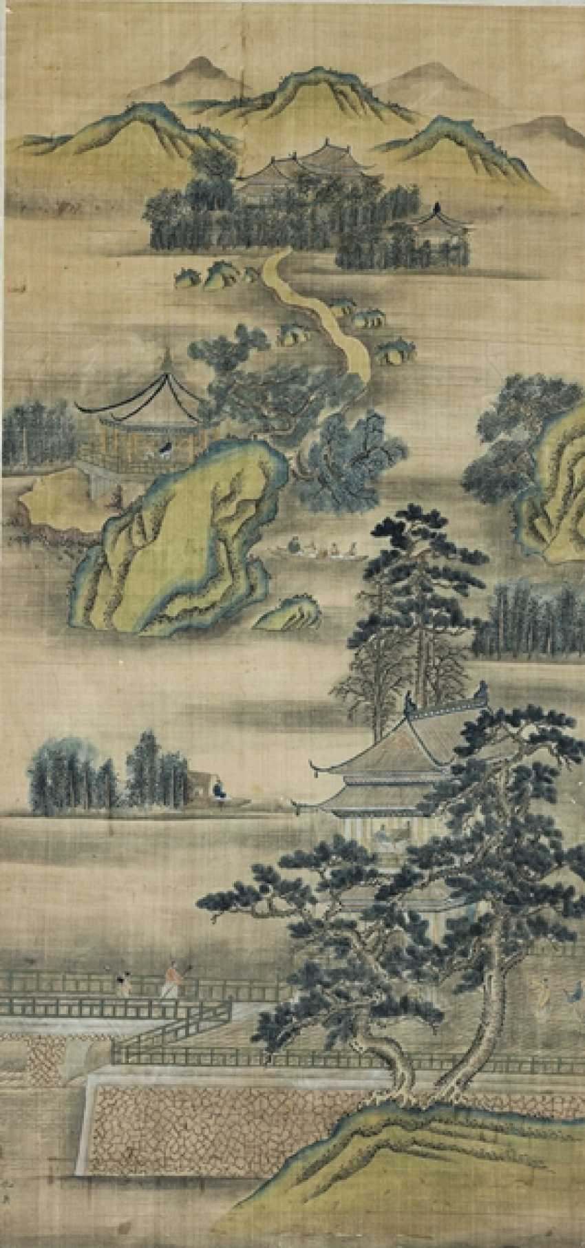 Anonymous painting of a landscape with a Palace - photo 1