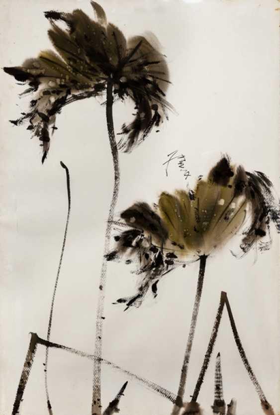 Name Of Zhang Jie (1921-2016) - Autumn Lotus Leaves - photo 1