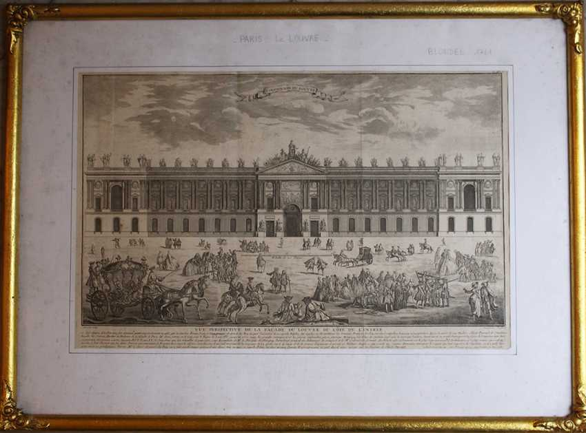 Colomnade du Louvre, copper print after the design by Claude Perrault (1613–1688) with descrption - photo 1