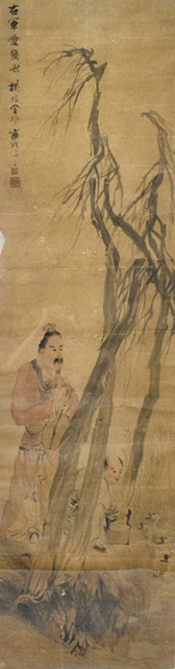 Painting with presentation of the Wang Xizhi at the goose pond - photo 1