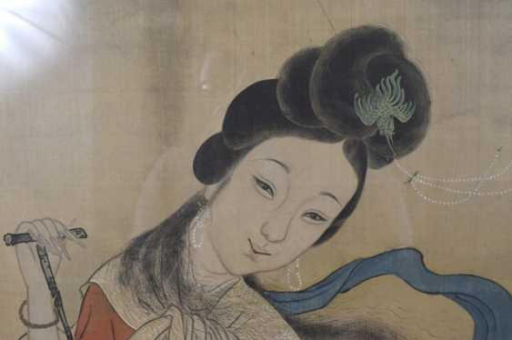 Painting of a Palace lady on the Bank of the river - photo 3