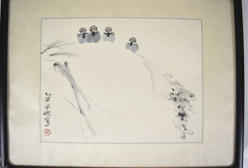 Two of the 'xieyi'compositions with illustrations of birds - photo 2