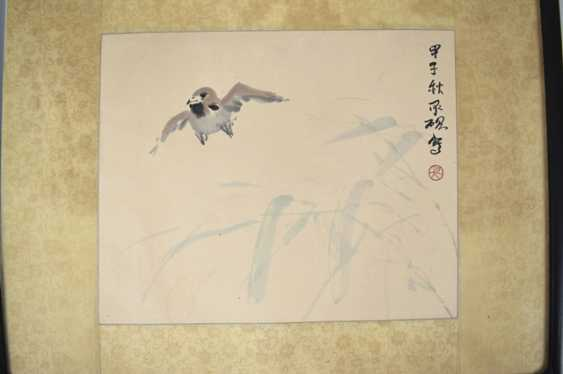 Two of the 'xieyi'compositions with illustrations of birds - photo 3