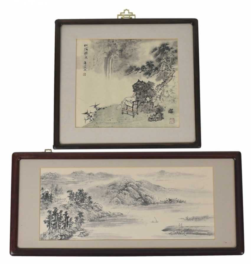 Two framed representations of taught landscapes - photo 1