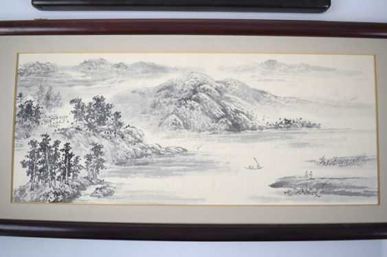 Two framed representations of taught landscapes - photo 3