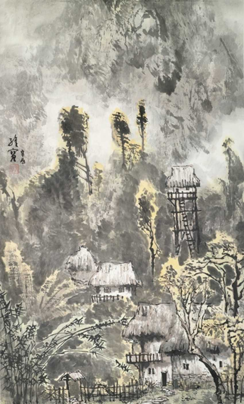 Wang Weibao (geb. 1942), attributed to a view of the village - photo 1