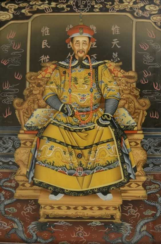 Pair of framed behind glass paintings with depiction of the Imperial couple - photo 1