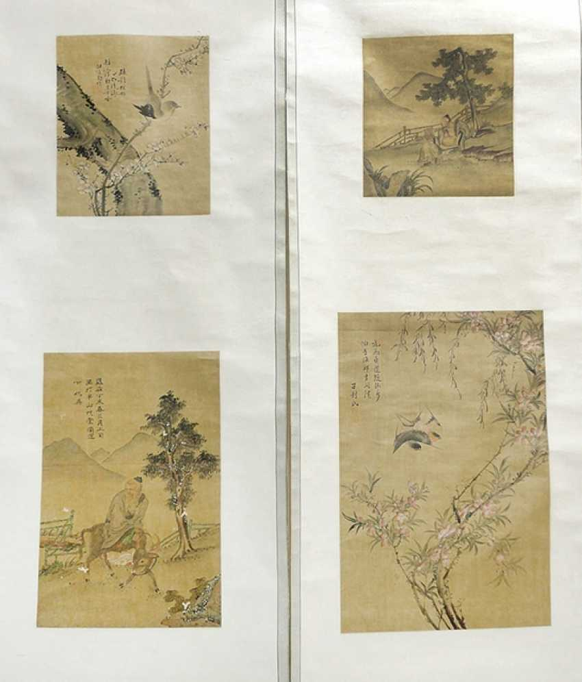 Group of seven stone rubbings and a pair of suspension rollers - photo 1