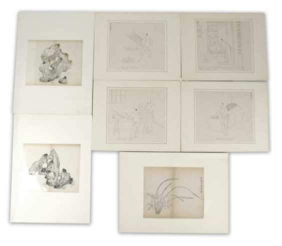 Group of seven prints and drawings by, among others, taught stones - photo 1