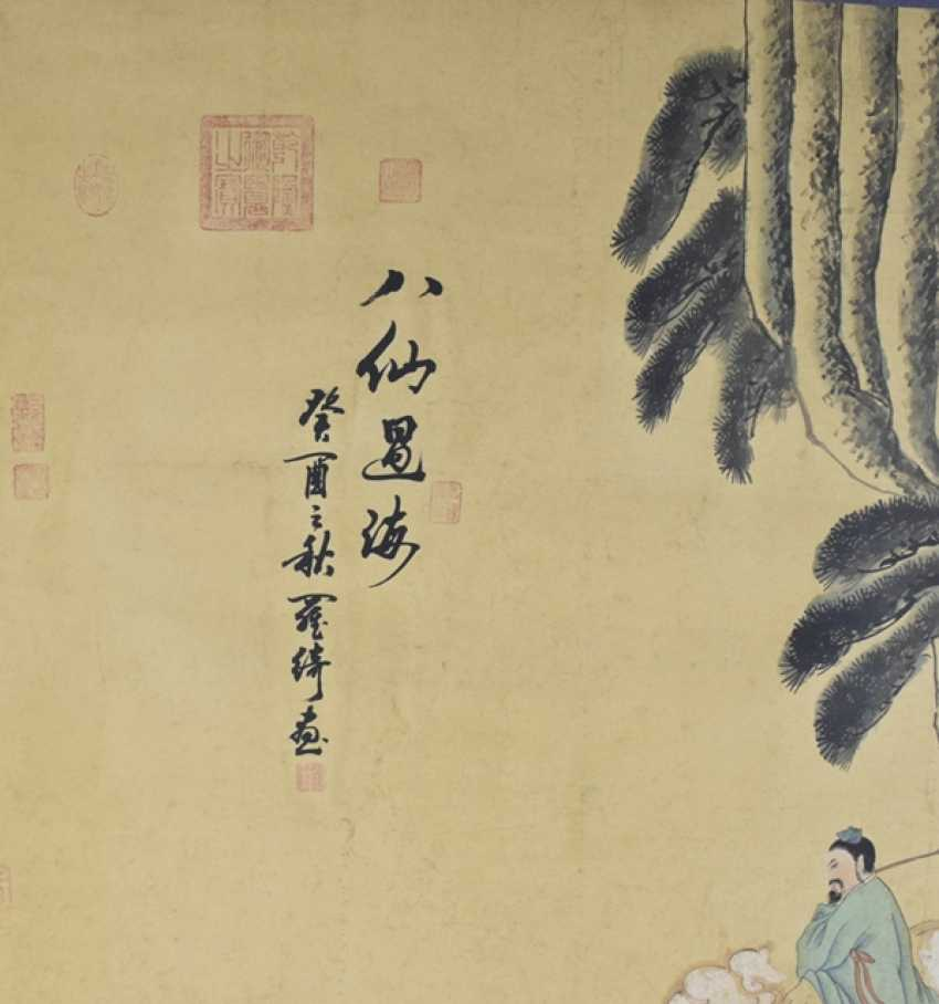 Painting with a depiction of the Eight Immortals - photo 3