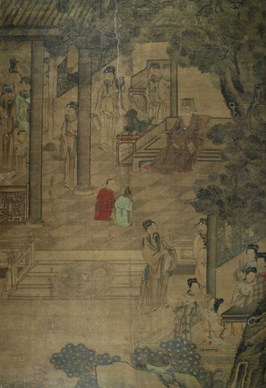 Anonymous painting of a scholar in the garden - photo 1