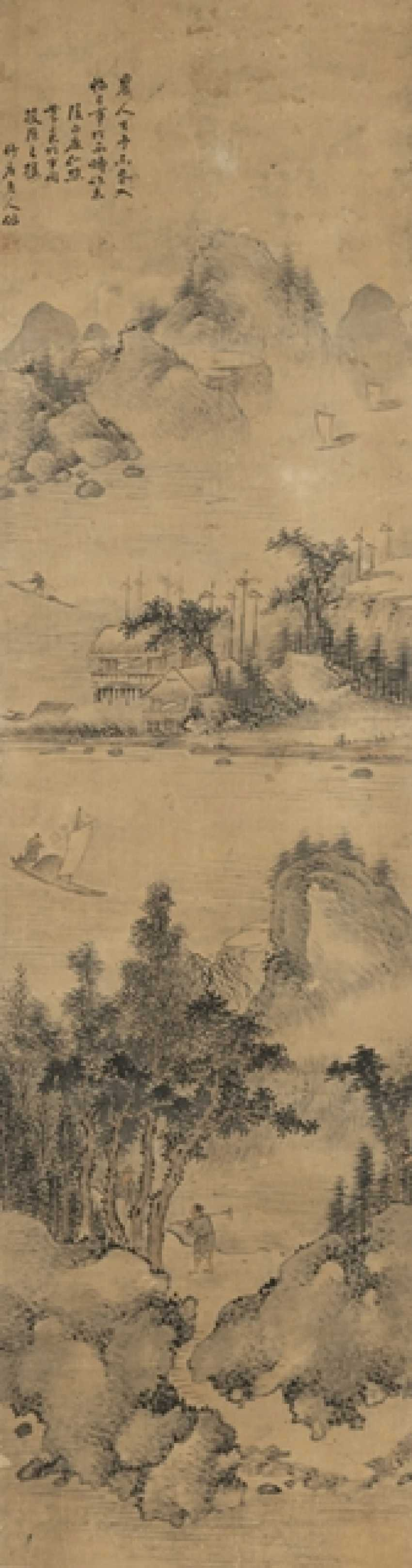 In the style of Shanghuan Zhou (1665 - after 1749), two rolls of Hanging - photo 2