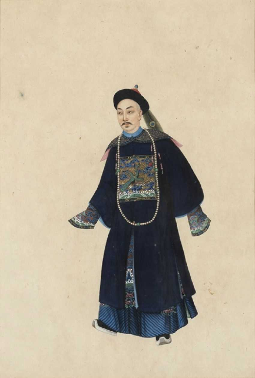 Two anonymous paintings of a noble couple - photo 2