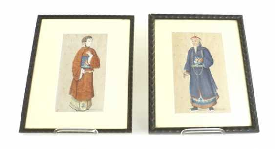 Two watercolors with representation of officials - photo 1