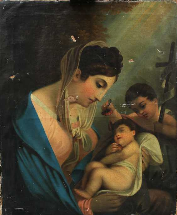 Austrian School around 1820, Maria with Jesus and Saint John - photo 1