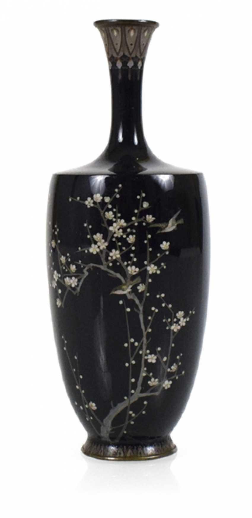 Cloisonné Vase with birds and plum flowers decor - photo 1