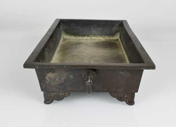 Flat Ikebana bowl of Bronze - photo 2