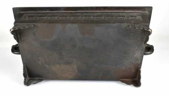 Flat Ikebana bowl of Bronze - photo 4
