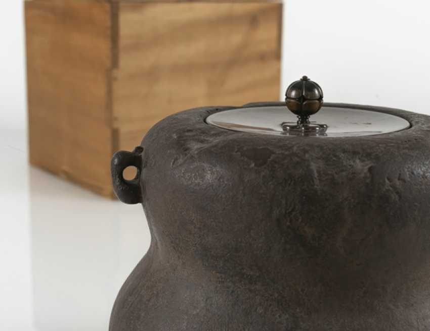 Water boiler made of iron, Sasaki Hikobei Munehiko (1868-1921) - photo 2