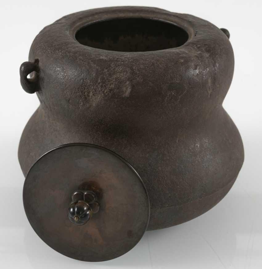 Water boiler made of iron, Sasaki Hikobei Munehiko (1868-1921) - photo 4
