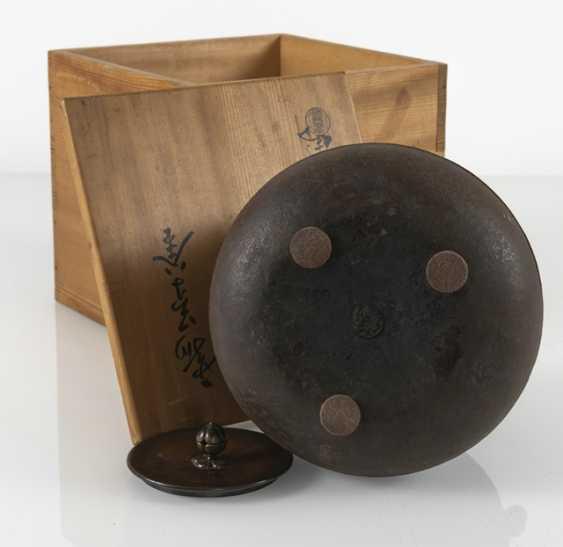 Water boiler made of iron, Sasaki Hikobei Munehiko (1868-1921) - photo 5