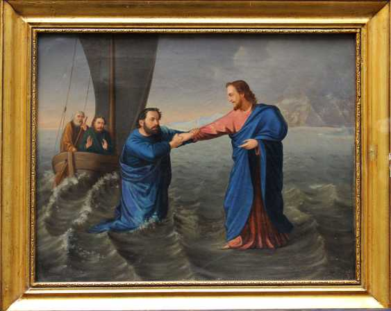 Nazarene artist 1st half 19th Century, Jesus and Petrus at the Sea of Galilea - photo 1