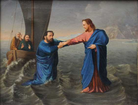 Nazarene artist 1st half 19th Century, Jesus and Petrus at the Sea of Galilea - photo 2