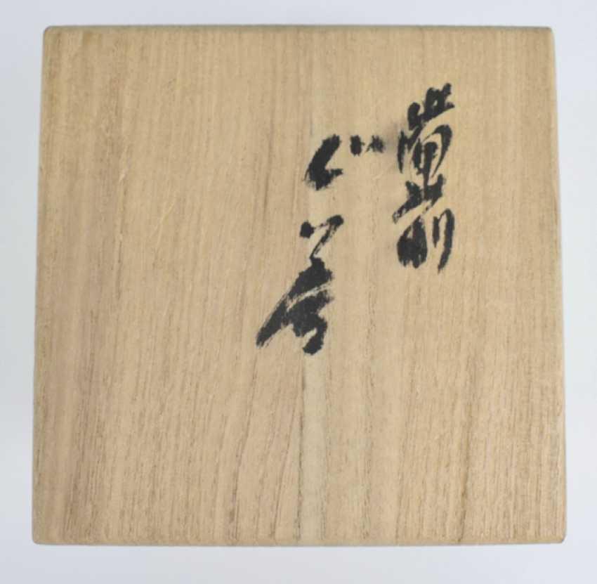 Name Tôzan Mori (born. 1938), two tea cups (Yunomi) and a sake Cup (Guinomi) - photo 4