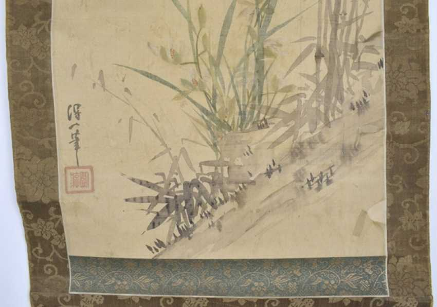 As a hanging scroll mounted painting of bamboo - photo 2