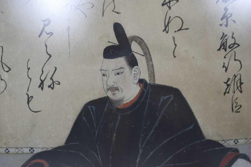Two portrait paintings, including a Shogun - photo 3