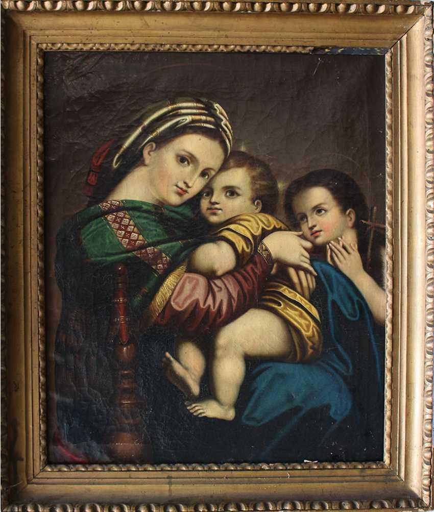 Italian artist 19th Century, Madonna della Sedia - photo 1
