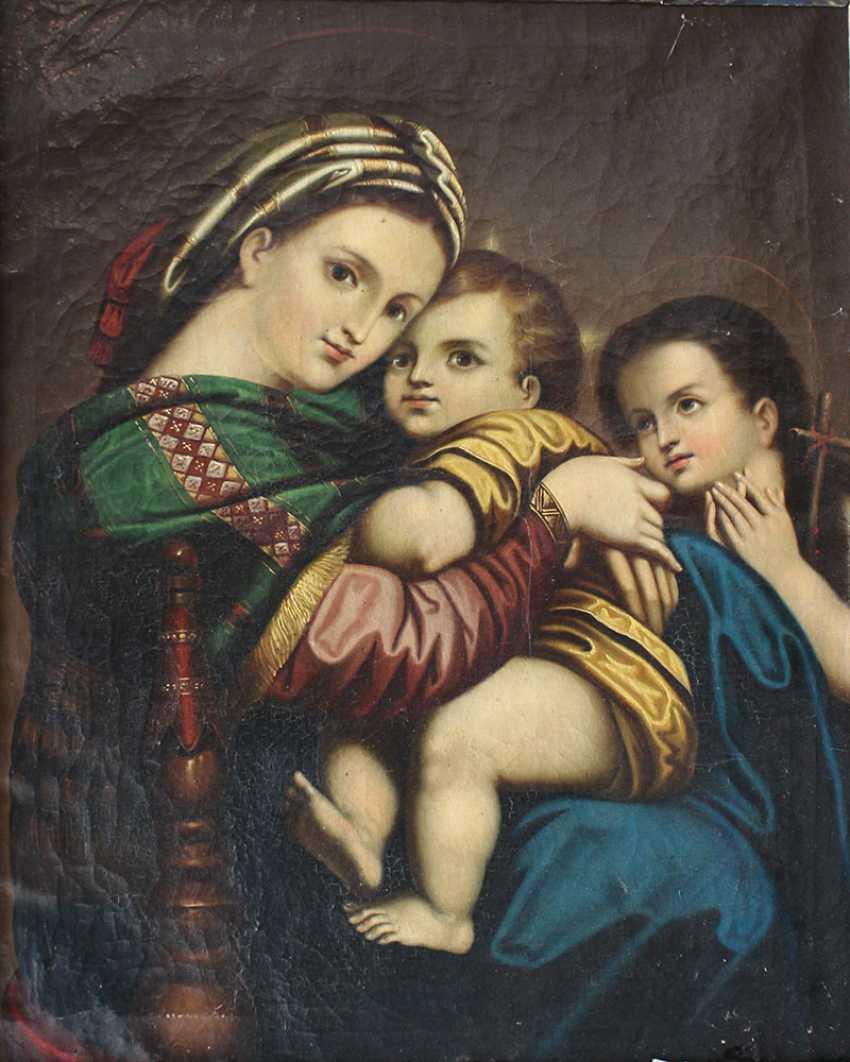 Italian artist 19th Century, Madonna della Sedia - photo 2