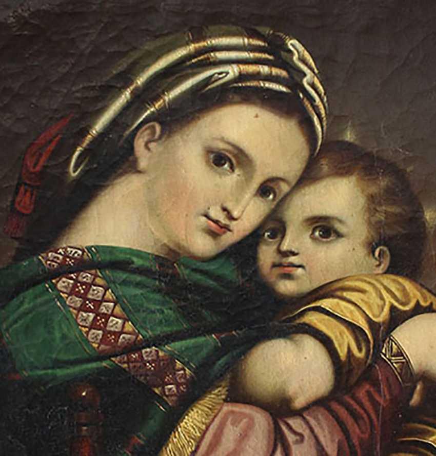 Italian artist 19th Century, Madonna della Sedia - photo 3