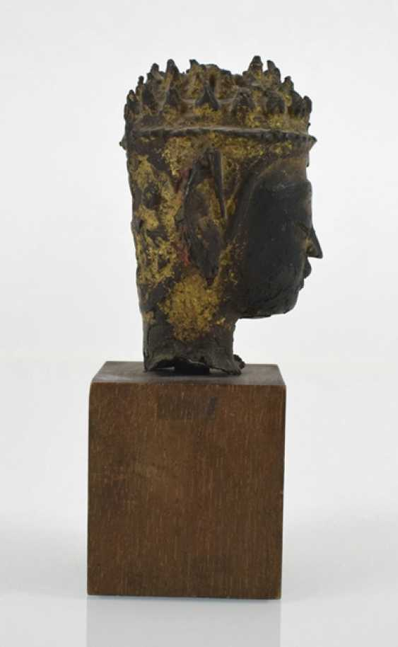 Buddha head made of Bronze - photo 3
