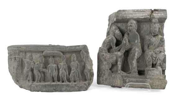 Two stone bas-reliefs in the Gandhara style - photo 1