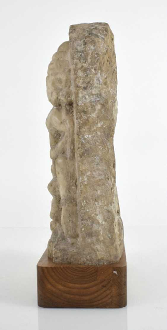 Stele made of Alabaster with a representation of the Umamaheshvara - photo 2