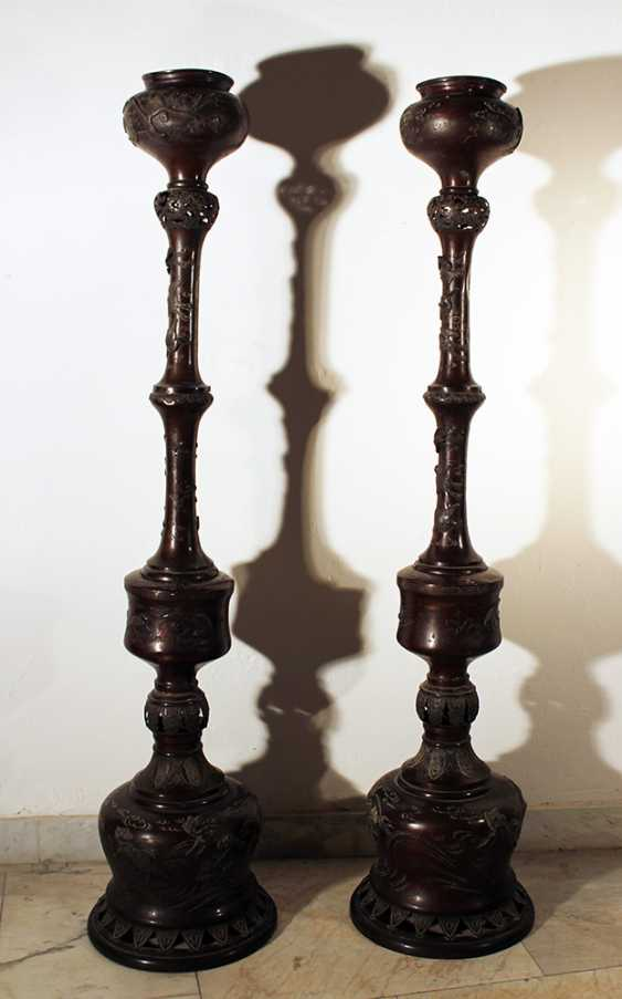 A pair of large Asian incense burners - photo 1