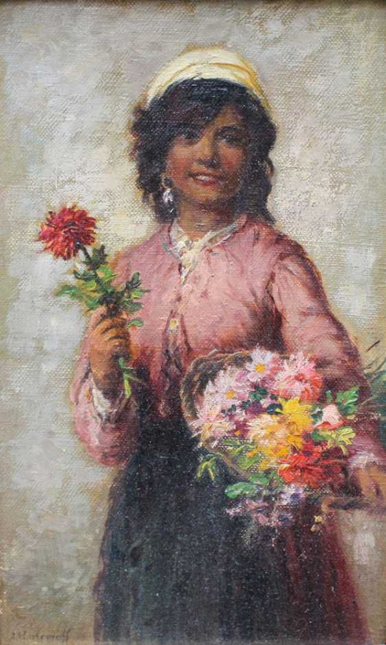 Alexei Harlamov (1840–1925)-attributed, Young flower seller - photo 2