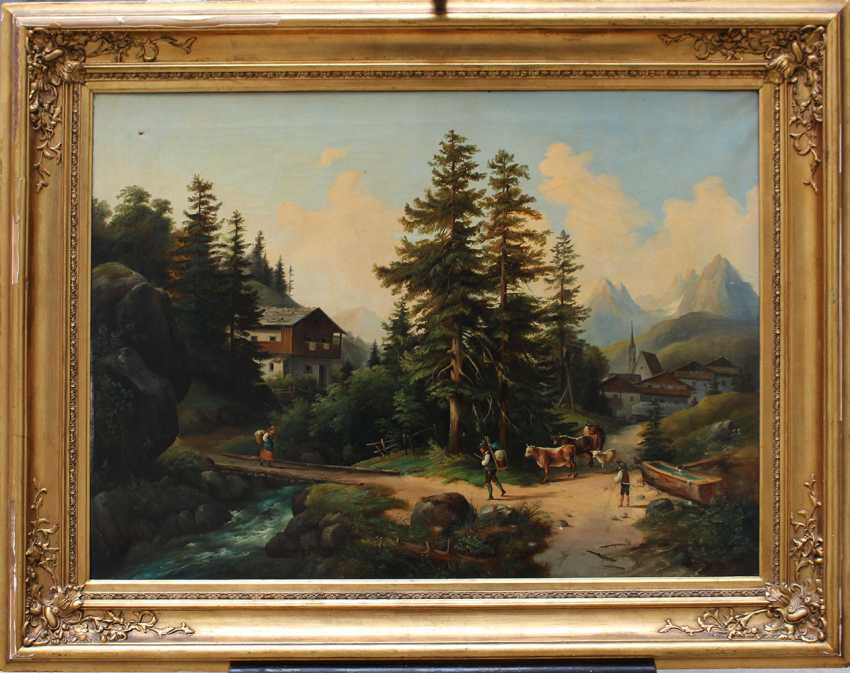 Franz Barbarini (1804-1873)-circle, Shepperd with cows in idyllic landscape - photo 1