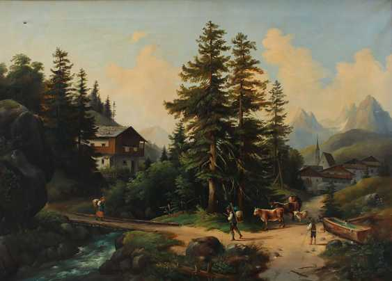 Franz Barbarini (1804-1873)-circle, Shepperd with cows in idyllic landscape - photo 2