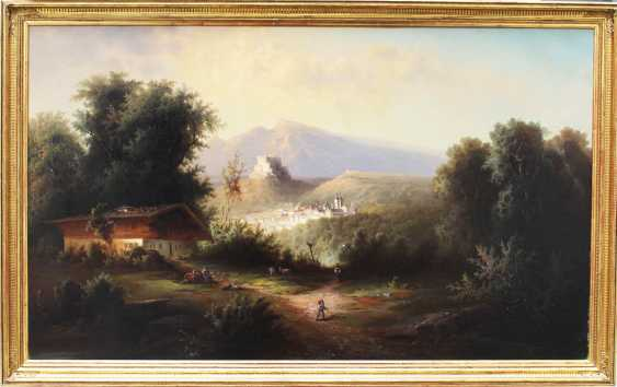 Franz Barbarini (1804-1873), Romantic view of Salzburg with the fortress and the town - photo 1