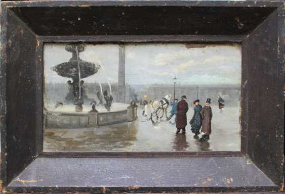 French School 2nd Half 19th Century, Flaneurs on the Place de la Concorde - photo 1