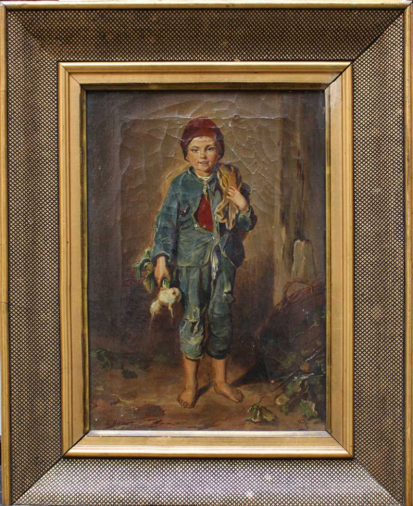 Ludwig Knaus (1829-1910)-attributed, Boy with some radish - photo 1