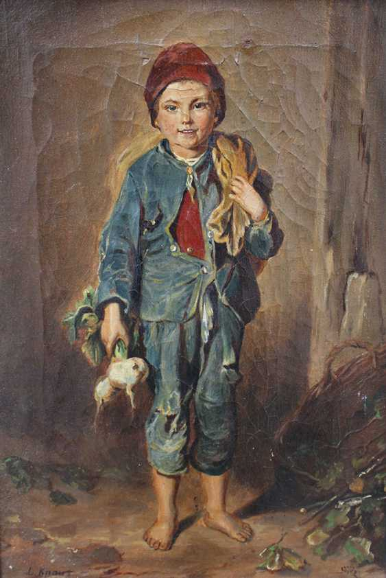 Ludwig Knaus (1829-1910)-attributed, Boy with some radish - photo 2