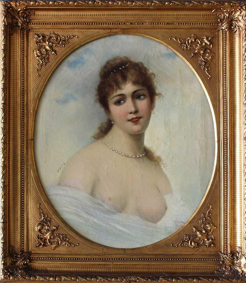 Paul Leroy (1860-1942), Portrait of a girl - photo 1
